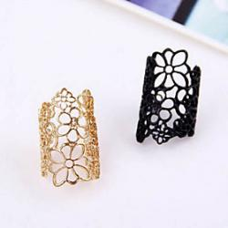 Low Price on European And American Style Retro Hollow Carved Flower Ring Ring Opening Mysterious Lace R765 R766