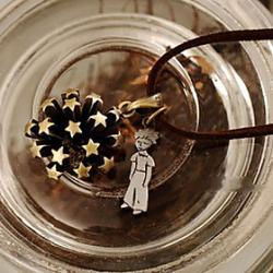 Low Price on Cartoon character pendant necklace vintage bronze star sweater chain N461