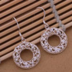 Low Price on Min.Order 15$ Mix Order Cheapest Sale Fashion Sterling silver 925 plated Drop Earrings Loop Factory Price 2pcs/lot