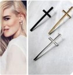 Low Price on ES523  Fashion 2014 New Cross Earrings Retro Temperament Wholesales Free Shipping